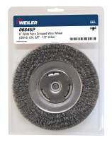 "Weiler 06645 Vortec Pro 6"" Bench Grinder Wheel, Wide Face, 0.14"" Steel Fill, 5/8""-1/2"" Arbor Hole"