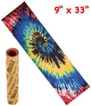 """Trouble 9"""" x 33"""" Skateboard Grip Tape Sheet Bubble Free Skateboard Griptape Tie Dye (S08)"""