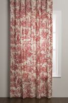 Maison d' Hermine Miller 100% Cotton Curtain One Panel for Living Rooms Bedrooms Offices Tailored with a Rod Pocket and Loop for Easy Hanging (Red, 50 Inch by 84 Inch).