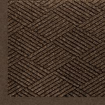 "M+A Matting 2297 Waterhog Eco Premier Fashion PET Polyester Fiber Indoor/Outdoor Floor Mat, SBR Rubber Backing, 3' Length x 2' Width, 3/8"" Thick, Chestnut Brown"