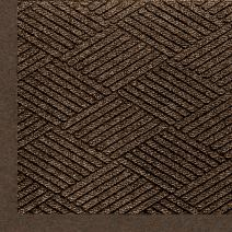 "M+A Matting 2297 Waterhog Eco Premier Fashion PET Polyester Fiber Indoor/Outdoor Floor Mat, SBR Rubber Backing, 3' Length x 2' Width, 3/8"" Thick, Chestnut Brown"