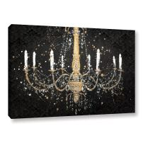 "ArtWall ""James Wien's Grand Chandelier Black I Gallery Wrapped Canvas, 16"" x 24"""