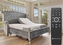 "Sven & Son Split King Adjustable Bed Base Frame (Head Tilt) + 10"" Luxury Cool Gel Memory Foam Mattress, Head & Foot USB Ports, Zero Gravity, Interactive Dual Massage, Wireless, Classic (Split King)"