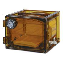 Bel-Art Lab Companion Amber Polycarbonate Cabinet Style Vacuum Desiccator; 23 Liter (F42400-4121)