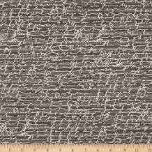 Robert Kaufman Chalk And Charcoal Text Words Fabric, Smoke, Fabric By The Yard