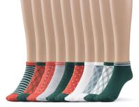 Women's Casual Holiday Low Cut Socks Gift Box Multi Pack Value Also Available In Plus Sizes