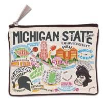 Catstudio Michigan State University Collegiate Zipper Pouch & Coin Purse   Holds Your Phone, Pencils, Makeup, Dog Treats, Tech Tools   Great for Travel, Women, Men, Girls, Boys