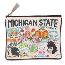 Catstudio Michigan State University Collegiate Zipper Pouch & Coin Purse | Holds Your Phone, Pencils, Makeup, Dog Treats, Tech Tools | Great for Travel, Women, Men, Girls, Boys