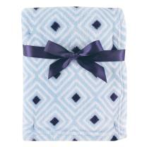 Luvable Friends Unisex Baby Coral Fleece Blanket, Blue Diamond, One Size