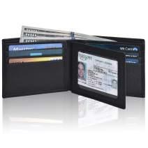 Front Pocket Wallets for Men - RFID Secured Real Leather Brown Bifold Wallet
