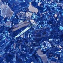Deep Sea Blue - Fire Glass for Indoor and Outdoor Fire Pits or Fireplaces   10 Pounds   1/4 Inch