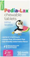 Pedia-Lax Children's Saline Laxative Chewable Tablets, Watermelon, 30 Count