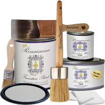 Retique It Chalk Finish Paint by Renaissance - Non Toxic, Eco-Friendly Chalk Furniture & Cabinet Paint - Deluxe Starter Kit, Argentine