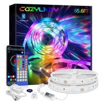 Cozylady Smart LED Strip Lights 65.6 FT - App Controlled LED Light Strips - Music Sync LED Lights Strip for Bedroom Decor, Room Decor, Children's Room