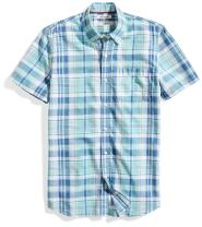 Amazon Brand - Goodthreads Men's Standard-Fit Short-Sleeve Lightweight Madras Plaid Shirt