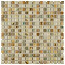 "SomerTile FCP96RSF Arcadia Springfield Porcelain Floor and Wall Tile, 12"" x 12"", Cream/Beige/Brown/Blue/Green"