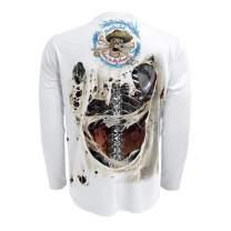 Rattlin Jack Men's UPF 50+ Fishing Skeleton Performance Long Sleeve Shirt