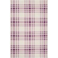 Country Living by Surya Happy Cottage HC-5806 Transitional Hand Woven 100% Wool Dusty Pink 5' x 8' Geometric Area Rug