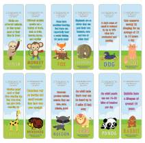 Creanoso Fun Facts About Animals Bookmarks Series 3 (30-Pack) – Stocking Stuffers Gift for Men, Women, Adult, Teens, Boys & Girls – Party Favors Supplies – Classroom Rewards Gifts