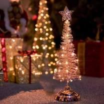 Varmax Christmas Tabletop Christmas Tree Rose Gold 15''