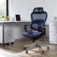 OFM Core Collection Ergo Office Chair featuring Mesh Back and Seat with Optional Headrest, in Blue (540-BLU)