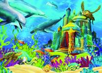 Heidi Puzzles - The Underwater Castle 150 Piece Children's Jigsaw Puzzle - 19 x 13.5 inches - Imported from Turkey