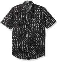 Volcom Boys' Big Drag Dot Short Sleeve All Over Print Button Up Shirt
