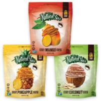 Natural Sins Variety Pack of Baked Mango, Pineapple and Coconut Chips | 1 Ounce Bag (Pack of 12) | Vegan, Gluten-Free, Paleo, Crispy + Thin, Dried Fruit Snack Food