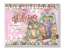 The Kids Room by Stupell I Knew When I Met You Pastel Owls Rectangle Wall Plaque