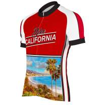 CORVARA BIKE WEAR Bike California Men's Cycling Short Sleeve Bike Jersey