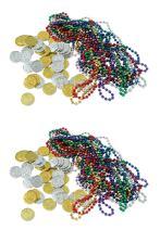 Beistle S50038AZ2 Treasure Loot 124 Piece, Multicolored