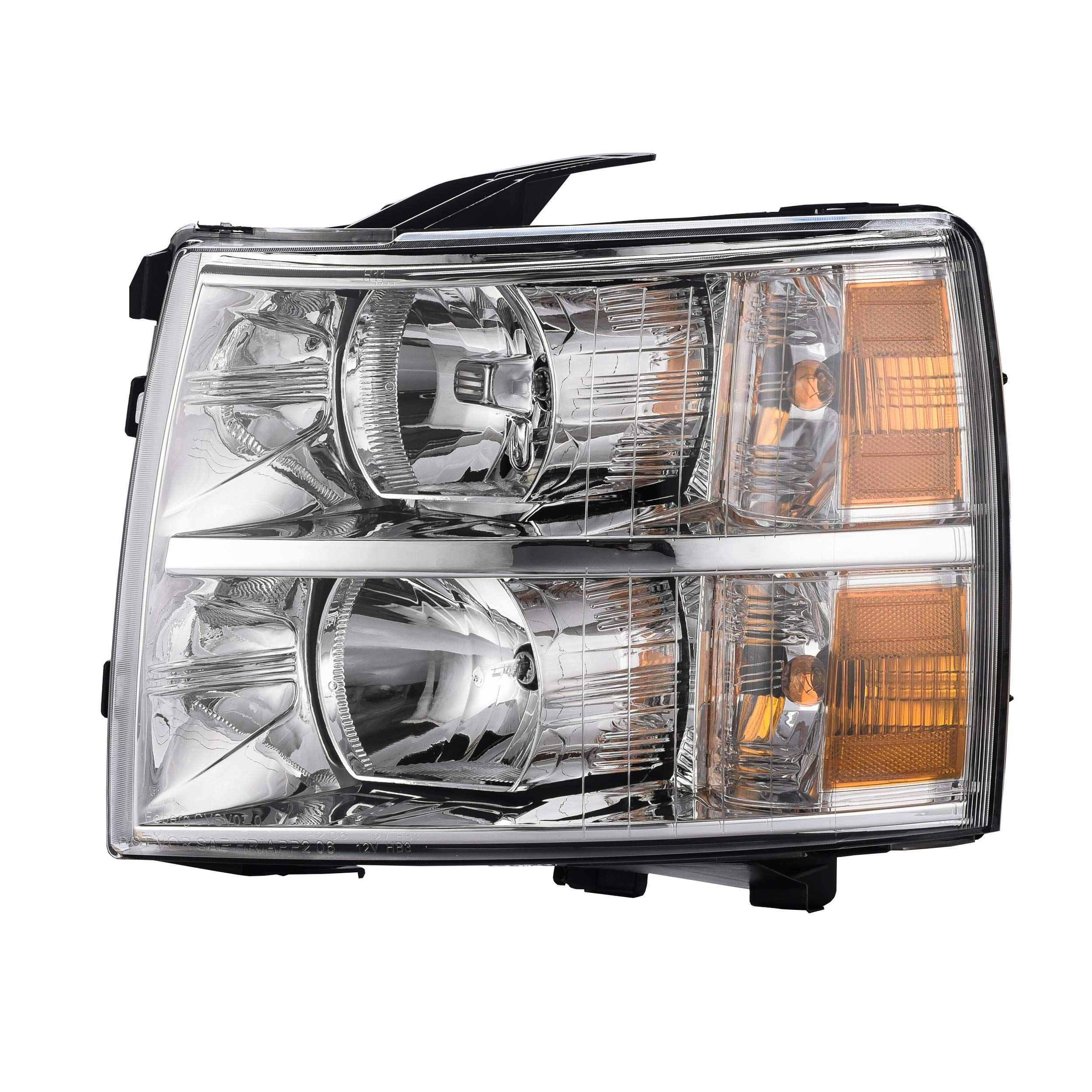Partslink Number GM2502280 OE Replacement Chevrolet Silverado Pickup Driver Side Headlight Assembly Composite