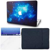 "KECC Laptop Case for MacBook Air 13"" Retina (2020/2019/2018, Touch ID) w/Keyboard Cover + Sleeve + Screen Protector (4 in 1 Bundle) Plastic Hard Shell Case A2179/A1932 (Blue 2)"