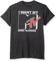 MTV Men's Want Logo T-Shirt