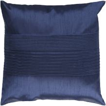 "Surya HH-029 Hand Crafted 100% Polyester Navy 18"" x 18"" Solid Decorative Pillow"