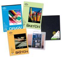 Pro Art Paper/Pencil Set Value Pack, Hardbound, 22-Piece Set