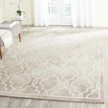 Safavieh Dip Dye Collection DDY539G Handmade Geometric Moroccan Watercolor Beige and Ivory Wool Area Rug (9' x 12')
