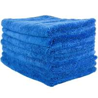 """Zwipes 604-7 Large Microfiber Cloth, Ultra Plush & Absorbent, Perfect Cleaning, Wash or Car Detailing-24 x 16"""" (6 Towels + 1 Free), 7 Pack"""