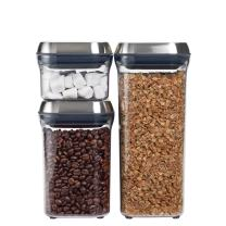 OXO 3107500 SteeL 3-Piece Airtight Food Storage POP Container Set,Silver