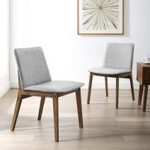 Art Leon Wooden Chairs Set of 2 with Cushioned Seat and Back for Dining Room & Living Room