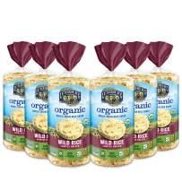 Lundberg Organic Brown Rice Cakes, Wild Rice, 8.5oz (6 Count), Gluten-Free, Vegan, USDA Certified Organic, Non-GMO Verified, Kosher, Whole Grain Brown Rice