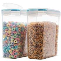 Komax Biokips Original Airtight Cereal Container (2 Pack)   16.9 Cups 135 Ounce   Airtight Food Storage Containers - BPA-Free Cereal Dispenser   Flour, Sugar, Dry Food Storage Containers with Lids
