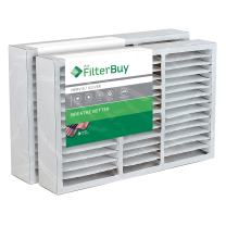 FilterBuy 16x25x5 Air Filter MERV 8, Pleated Replacement HVAC AC Furnace Filters for Honeywell, Air Kontrol, Bryant, Carrier, Day & Night, Lennox, and Payne (2-Pack, Silver)