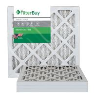 10x10x1 AFB Silver MERV 8 Pleated AC Furnace Air Filter. Pack of 4 Filters. 100% produced in the USA.