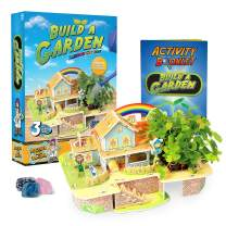 Rainbow Cottage Kids Garden Kit – Rainbow Cottage Model Kit for Kids with Indoor Garden, Includes Flower and Vegetable Seeds, Peat Pellets, Activity Guide, and More