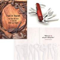 Smiling Wisdom - Red Multifunction Compact Pocket Army Knife Gift Set - Believe You Can Gift Set - You Have the Tools to Build Your Dreams Inspirational - Him, Her, Son, Grandson, Nephew - Grad
