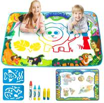 Klever Kits 2 Pieces Water Doodle Mats 34.5''x22.5'' Kids Aqua Magic Water Drawing Mat Painting Writing Activity Boards Toy for Boys and Girls 2-5 Years, Educational Gift, Christmas Stocking Stuffers