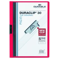 DURABLE Report Cover with DURACLIP, Letter-size, Holds Up to 30 Pages, Clear Cover/Light Blue, (220303)