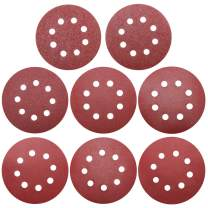 80 Pieces 5 Inch 8 Holes Sanding Discs Assortment Pack Made From Premium Aluminum Oxide, Viaky Grit Sizes 40/60/ 100/120/ 180/240/ 320/400, Discs Pads,Hook-and-Loop, For Random Orbital Sander