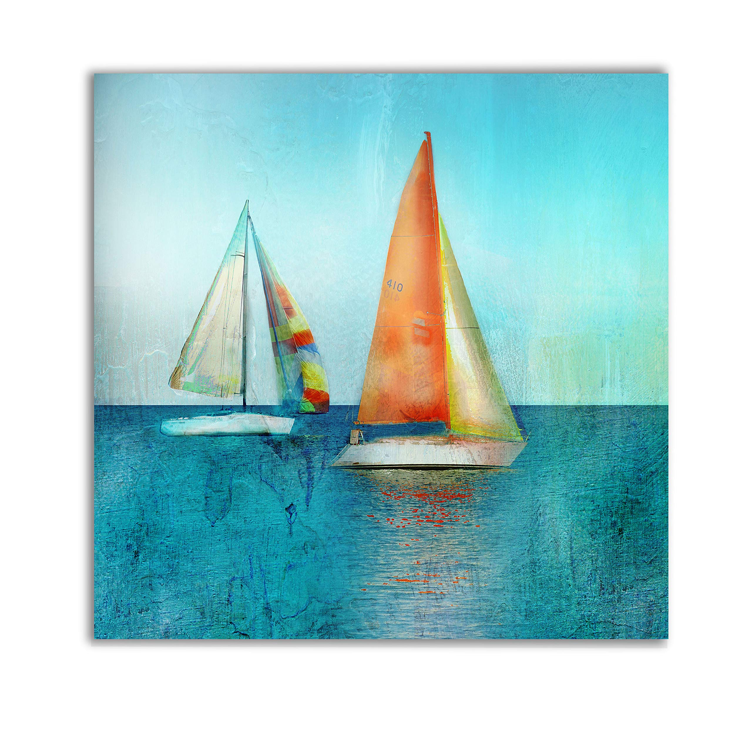 WEXFORD HOME Color Tint Sail Gallery Wrapped Canvas Wall Art, 10x10